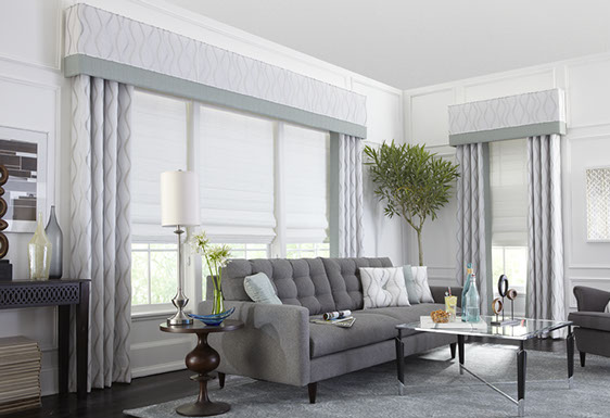 Upholstered Cornice in Living Room